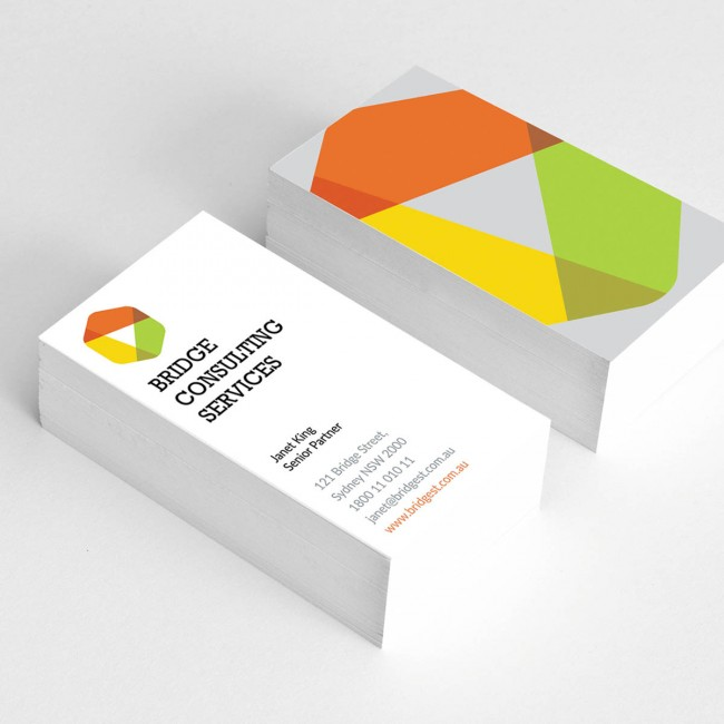 Double sided business cards business cards full colour 2 sides 350gsm satin artboard reheart Gallery
