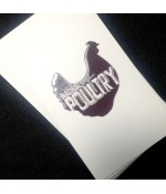 Business Cards Full Colour 2 Sides 350gsm Matt Laminate 2 Sides Raised Print 1 Side