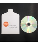 CD Disk Print / Duplicate / Printed 2 Panel Locking Wallet