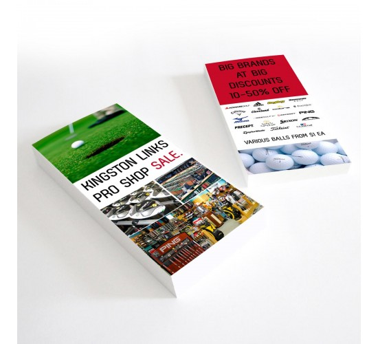 DL Cards 99x210mm Full Colour 2 Sides Gloss Laminate 1 Side