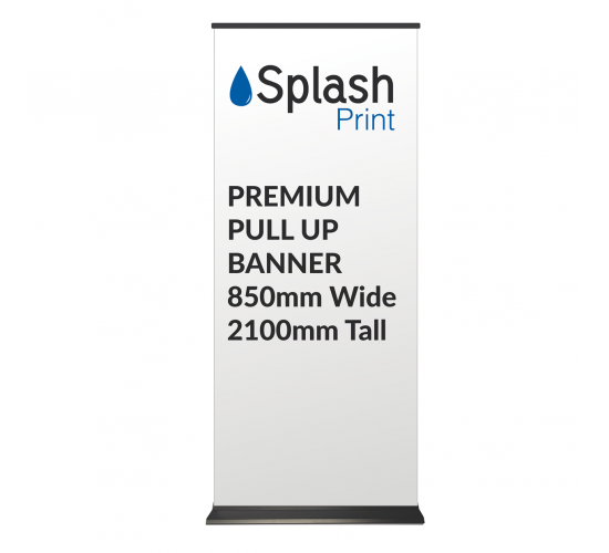 Premium 850mm Wide Pullup Banner with padded transport case
