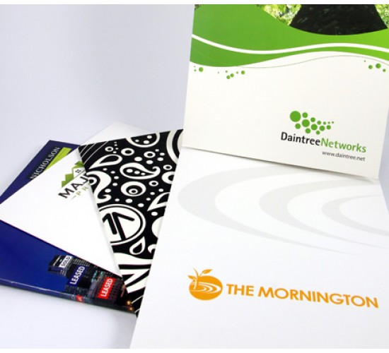 A4 Presentation Folder Full Colour 1 Side No Laminate